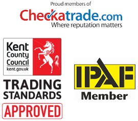 Gutter cleaning accreditations, checktrade, Trusted Trader, IPAF in Crawley
